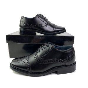 Joseph Allen Toddler Boy Black Oxford Dress Shoes